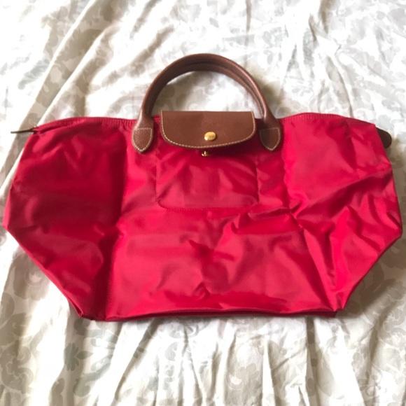 cf96f083c38c Longchamp Handbags - Longchamp Le Pliage Nylon Medium - Red Garance